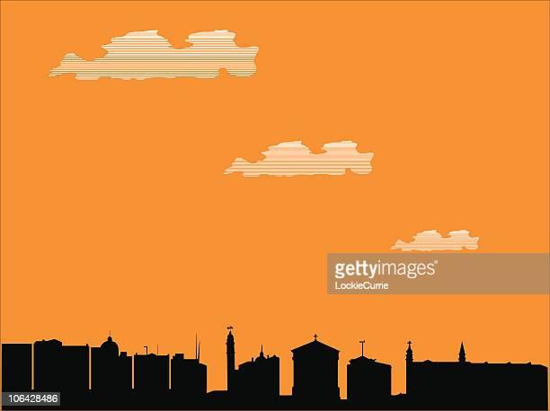 ilustrações, clipart, desenhos animados e ícones de old cidade - spire