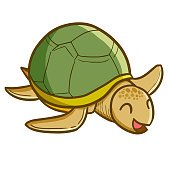 old turtle smiling