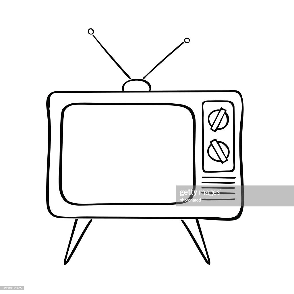 Old tv set, vector illustration.