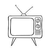 Old tv set, vector illustration.