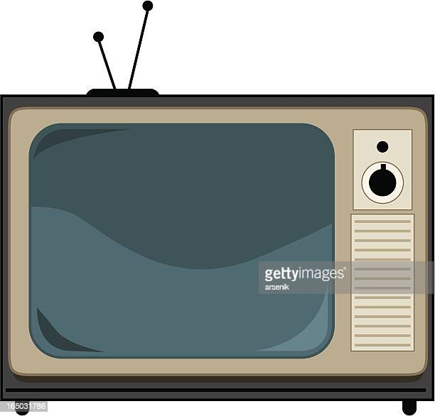 old tv - television aerial stock illustrations, clip art, cartoons, & icons