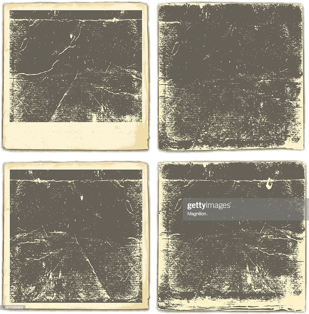 Old vintage photo graphs on a white background