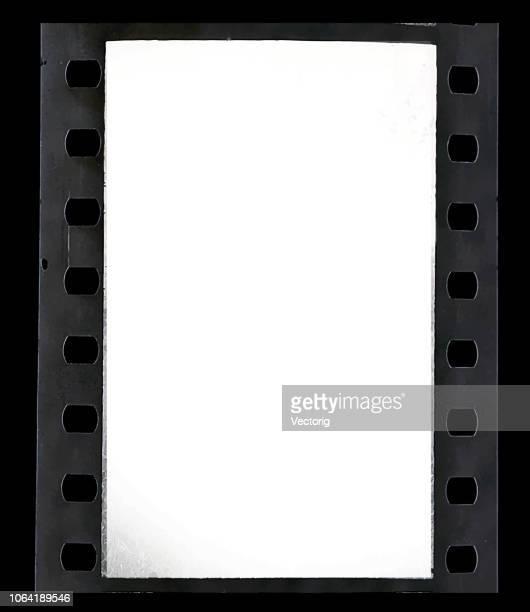 Old vintage retro 35 mm grunge film frame