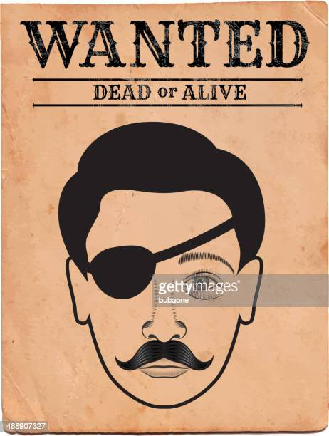 Old Western Wanted Poster on royalty free vector Background