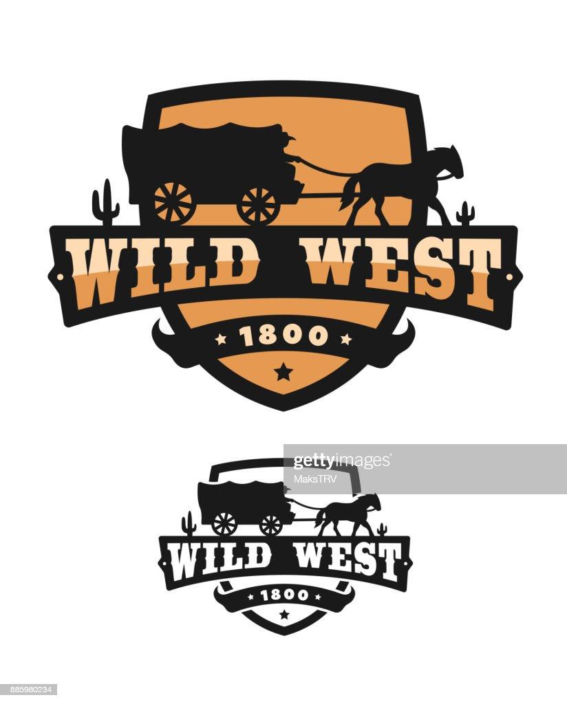 Old Wild West. Logo of emblem.