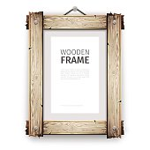 Old Wooden Frame with White Paint
