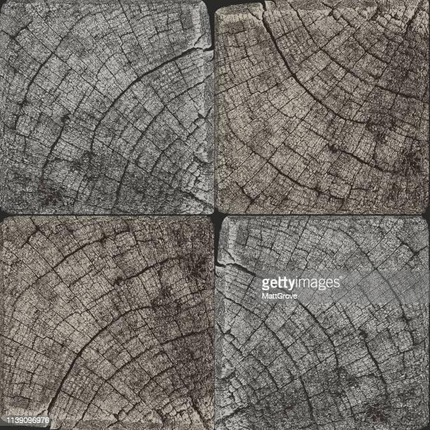 Alte Holzpost nahtlos wiederholt Muster
