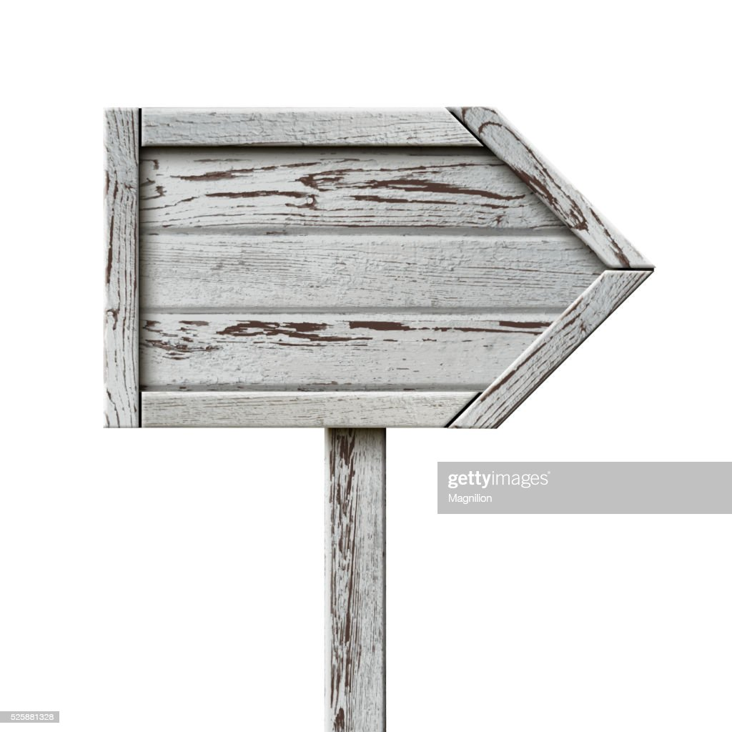Old Wooden Sign Pointer : Stock Illustration
