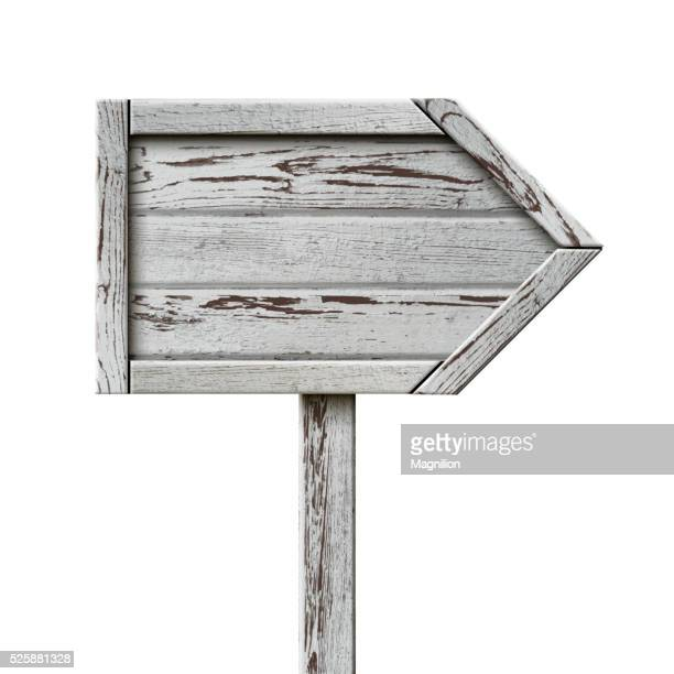 Old Wooden Sign Pointer