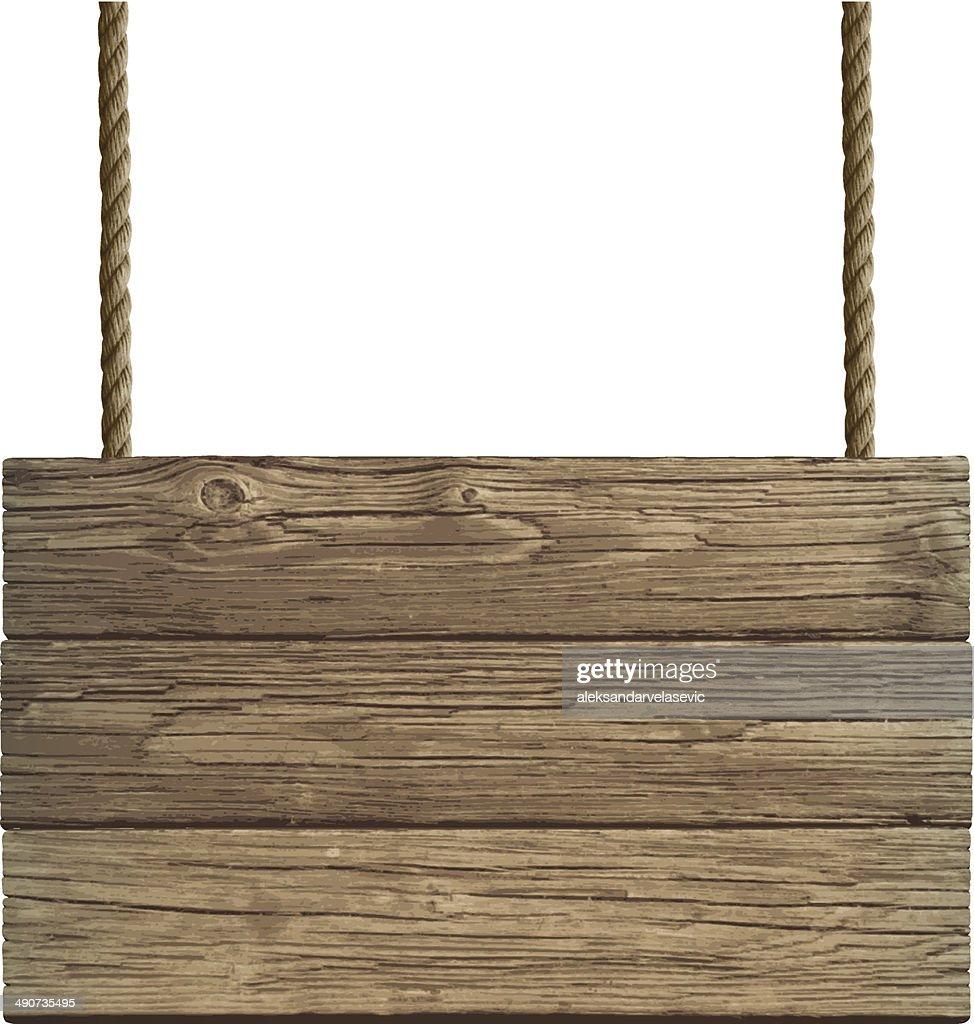 Old Wooden Sign : stock illustration