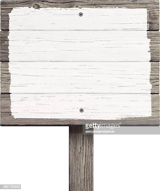 Viejo cartel de madera