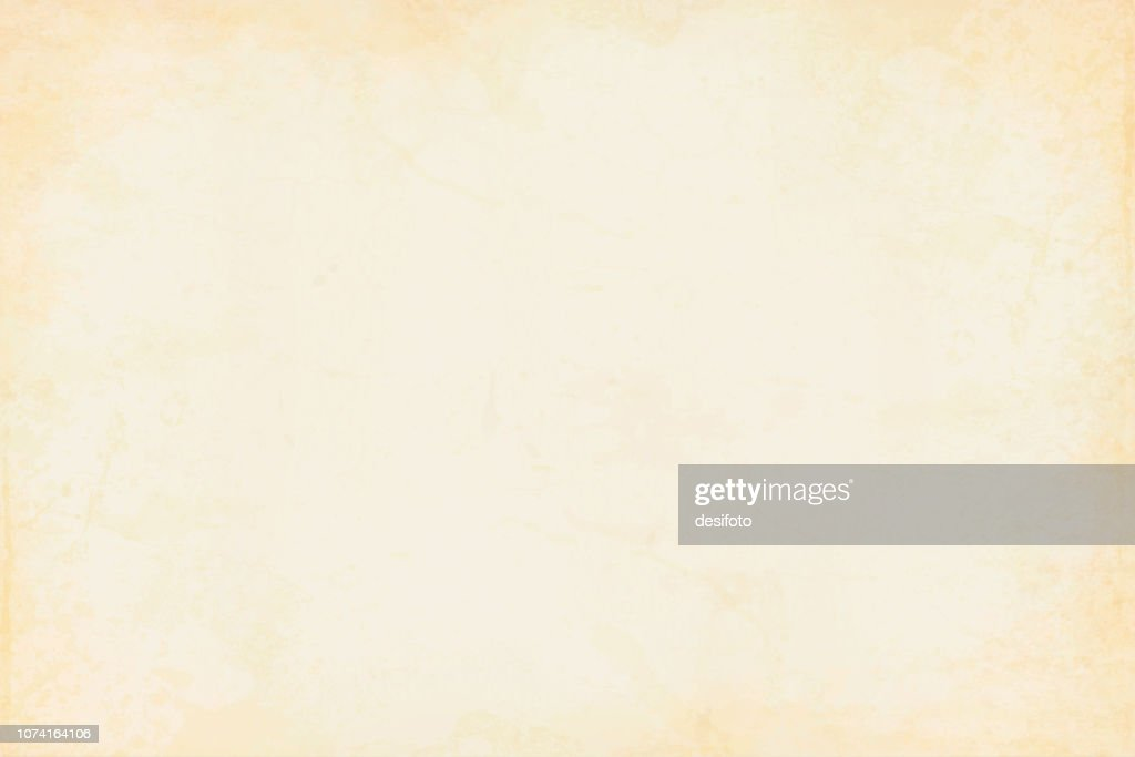 Old yellowed cream beige colored smudged effect blotched wooden, wall texture grunge vector background- horizontal - Illustration : stock illustration