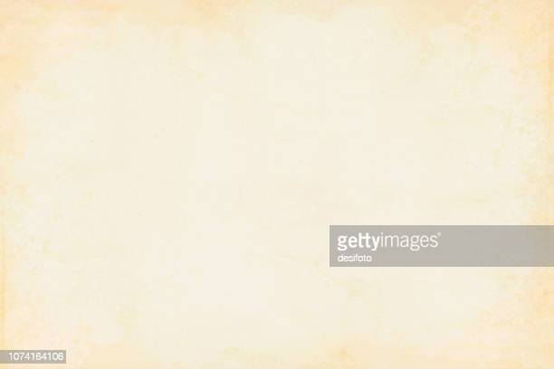 illustrazioni stock, clip art, cartoni animati e icone di tendenza di old yellowed cream beige colored smudged effect blotched wooden, wall texture grunge vector background- horizontal - illustration - texture descrizione generale