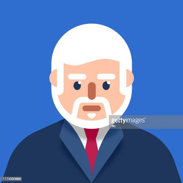 Older Businessman Wearing a Suit Modern Avatar