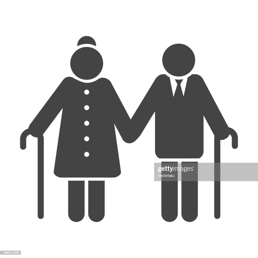 Older couple icon