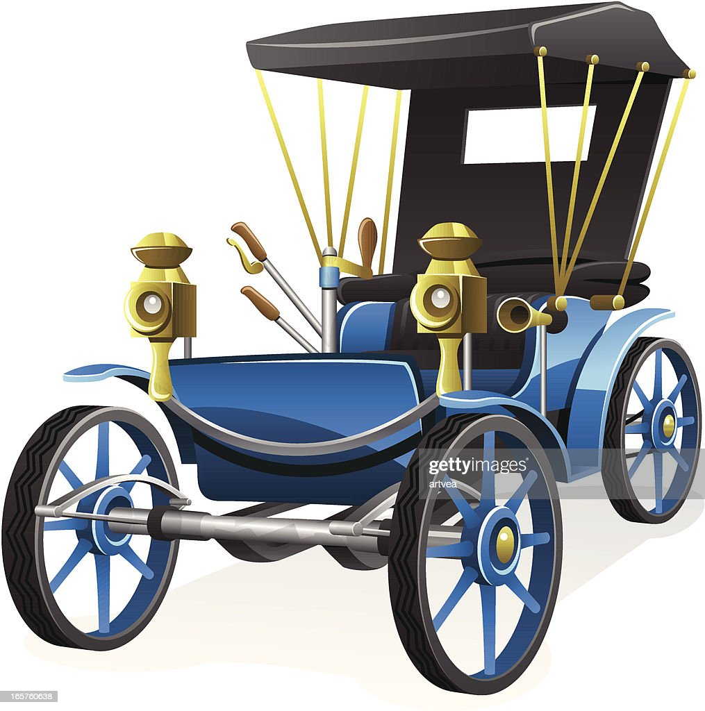 Oldfashioned Car Vector Art | Getty Images