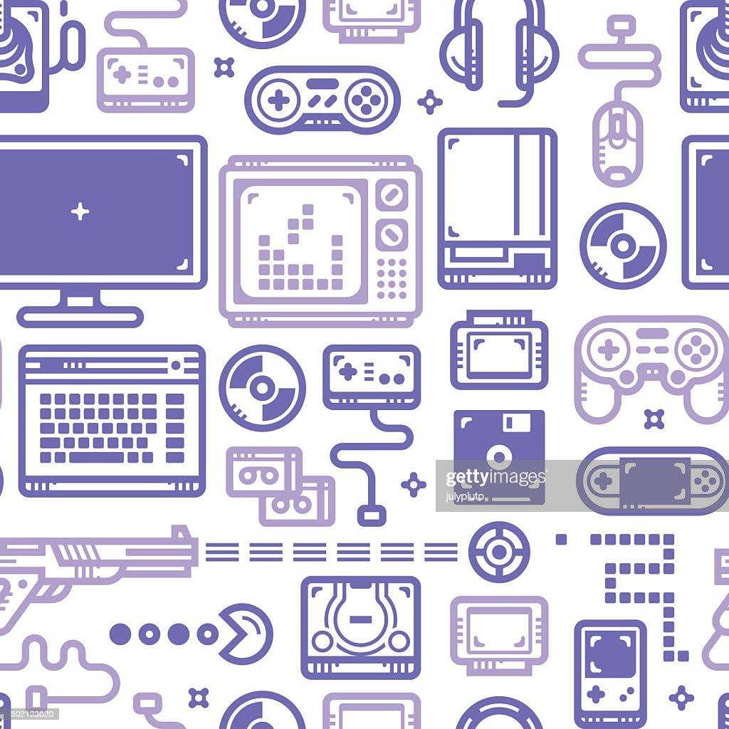 Oldschool Gaming Pattern