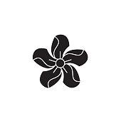 Oleander black vector concept icon. Oleander flat illustration, sign