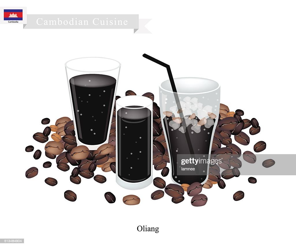 Oliang or Cambodian Black Coffee with Ice