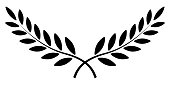 olive branch, Laurel wreath, vector winner award symbol, sign victory and wealth in the Roman Empire