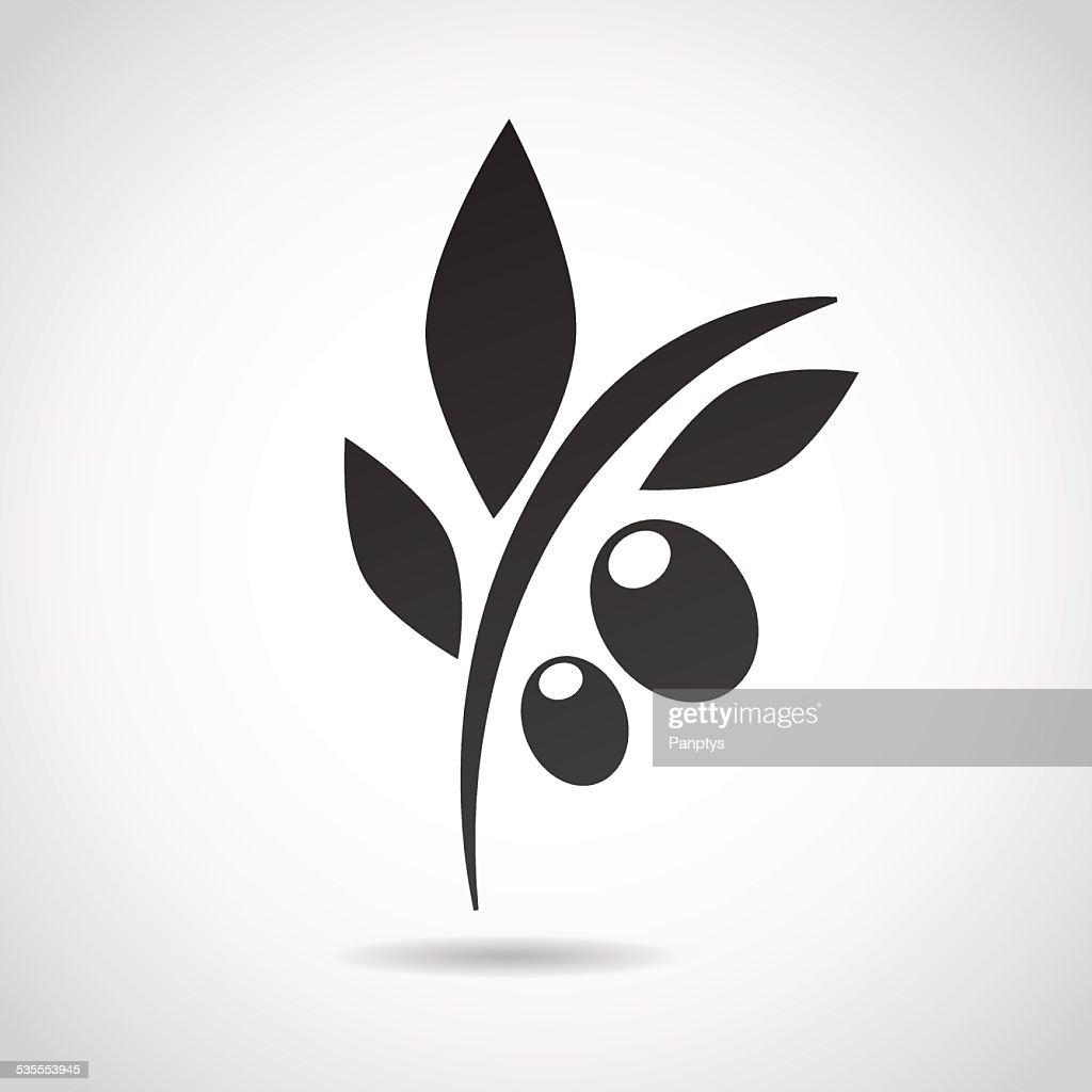Olive icon isolated on white background.
