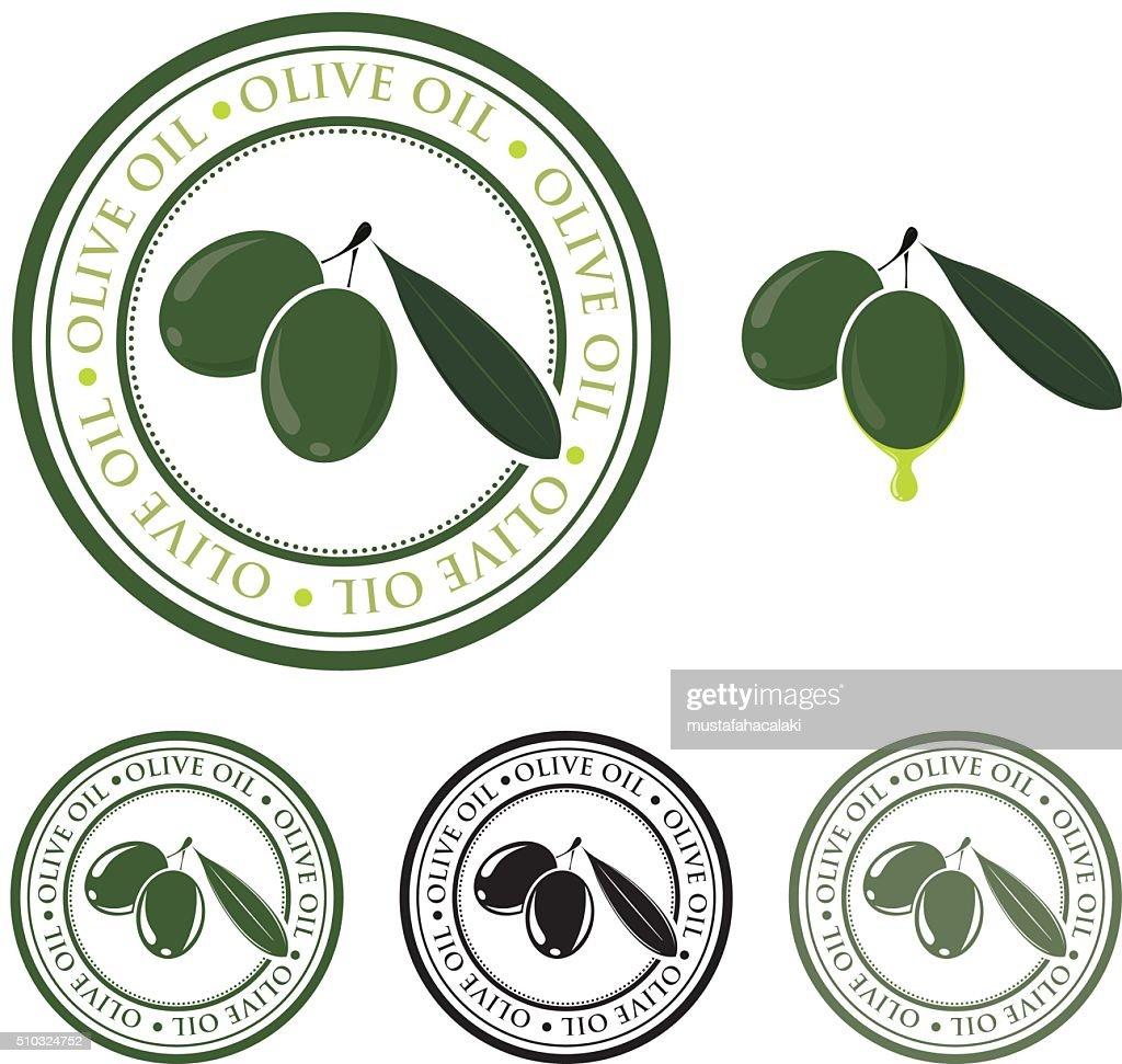 Olive oil badge : stock illustration