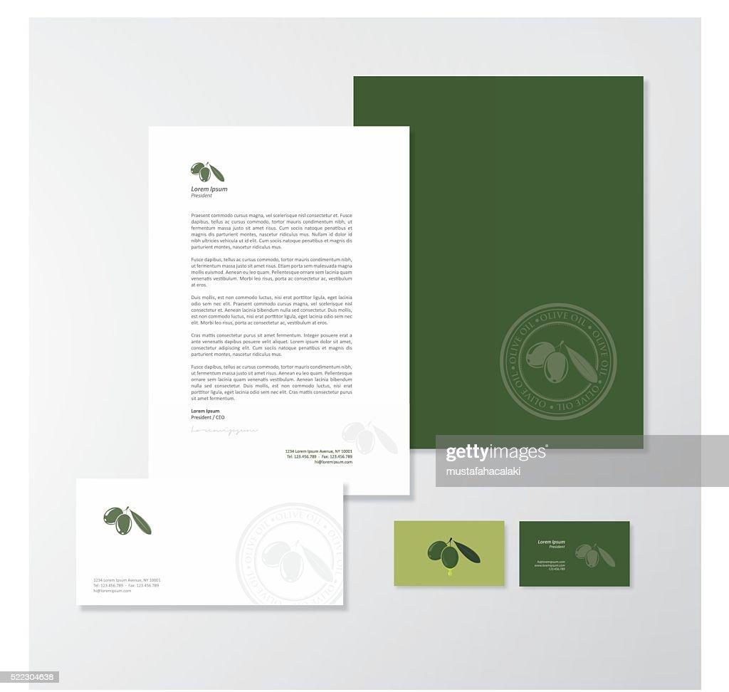 Olive oil company branding design