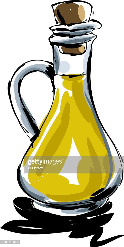 Olive oil Drawing : stock illustration