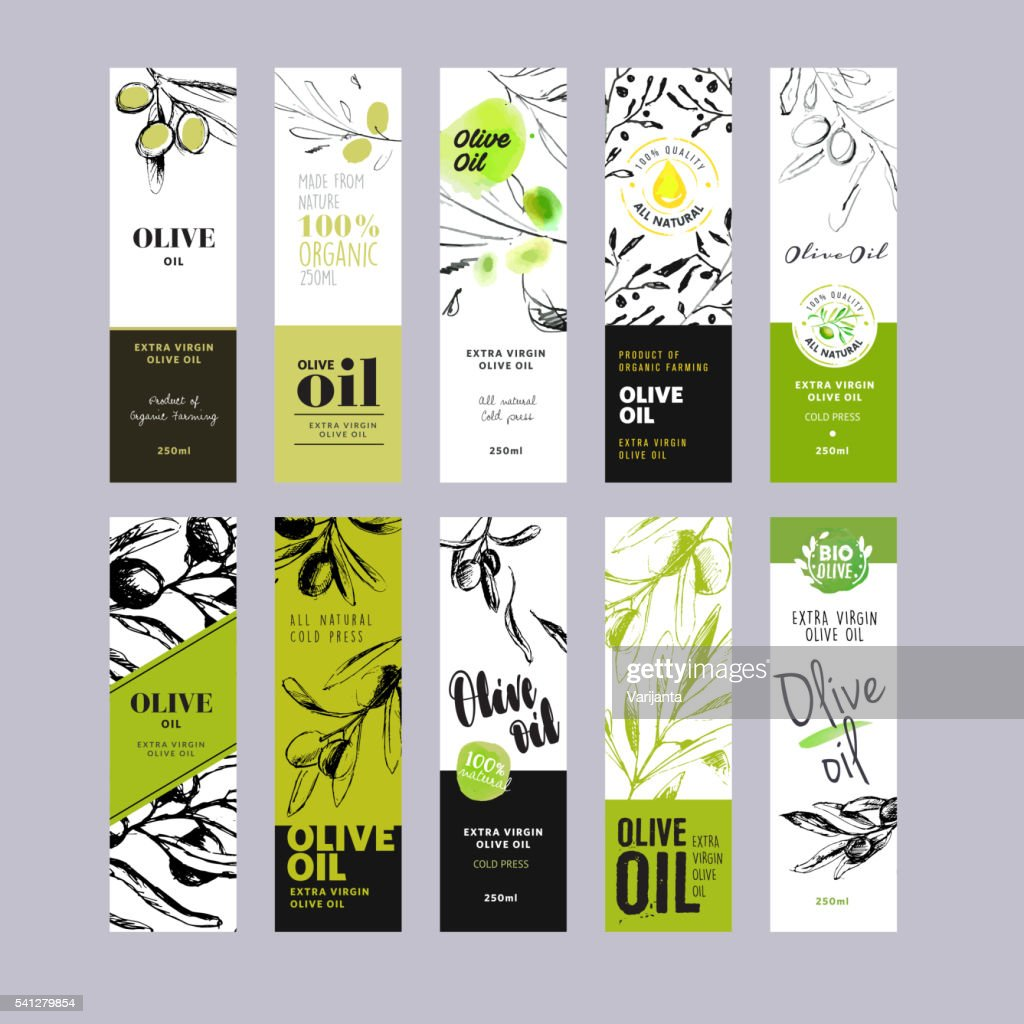 Olive oil labels collection