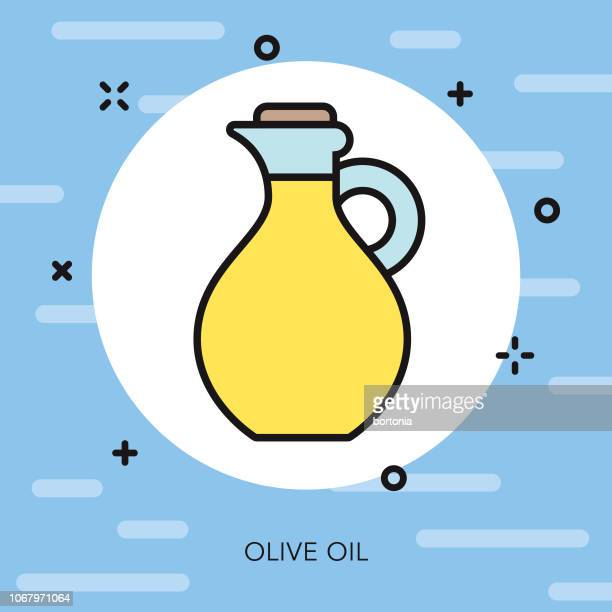 Olive Oil Thin Line Hannukah Icon