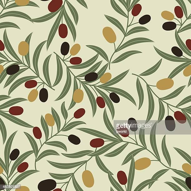 オリーブの模様。 - オリーブの木点のイラスト素材/クリップアート素材/マンガ素材/アイコン素材