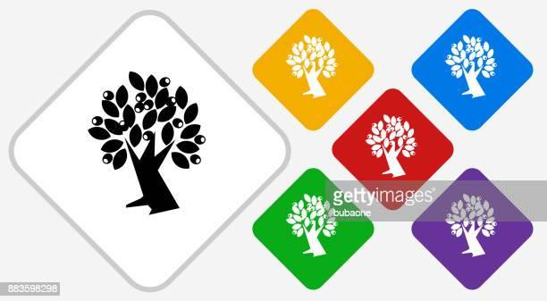 Icono de Vector de diamante de Color de olivo