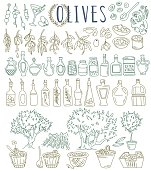 Olives and olive oil.