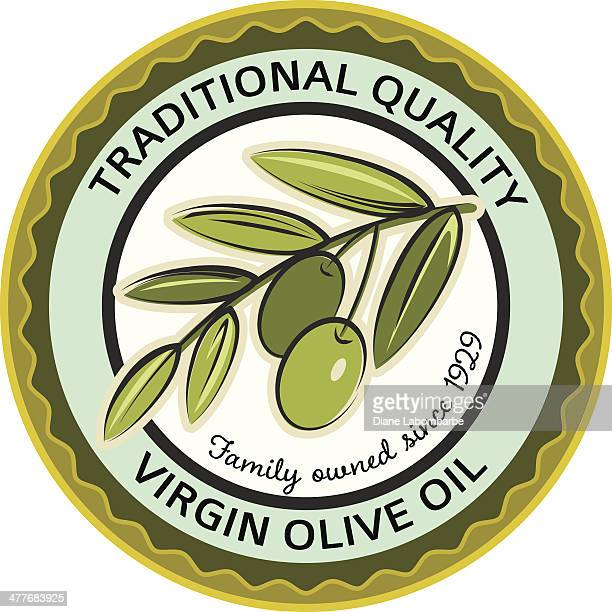 Olives Stamp Label