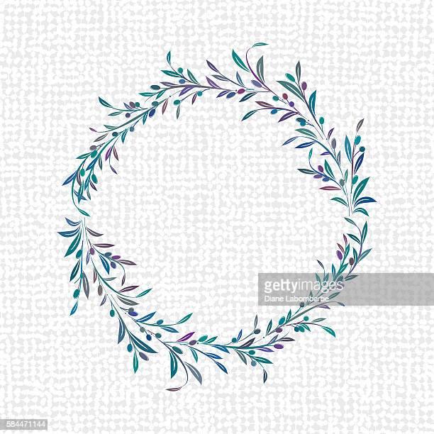 illustrations, cliparts, dessins animés et icônes de olives wreaths and ornaments - olivier