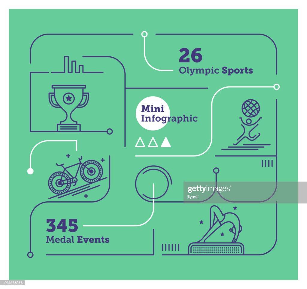 Olympics Mini Infographic : stock illustration