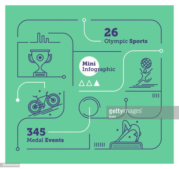 olympics mini infographic - match sport stock illustrations, clip art, cartoons, & icons
