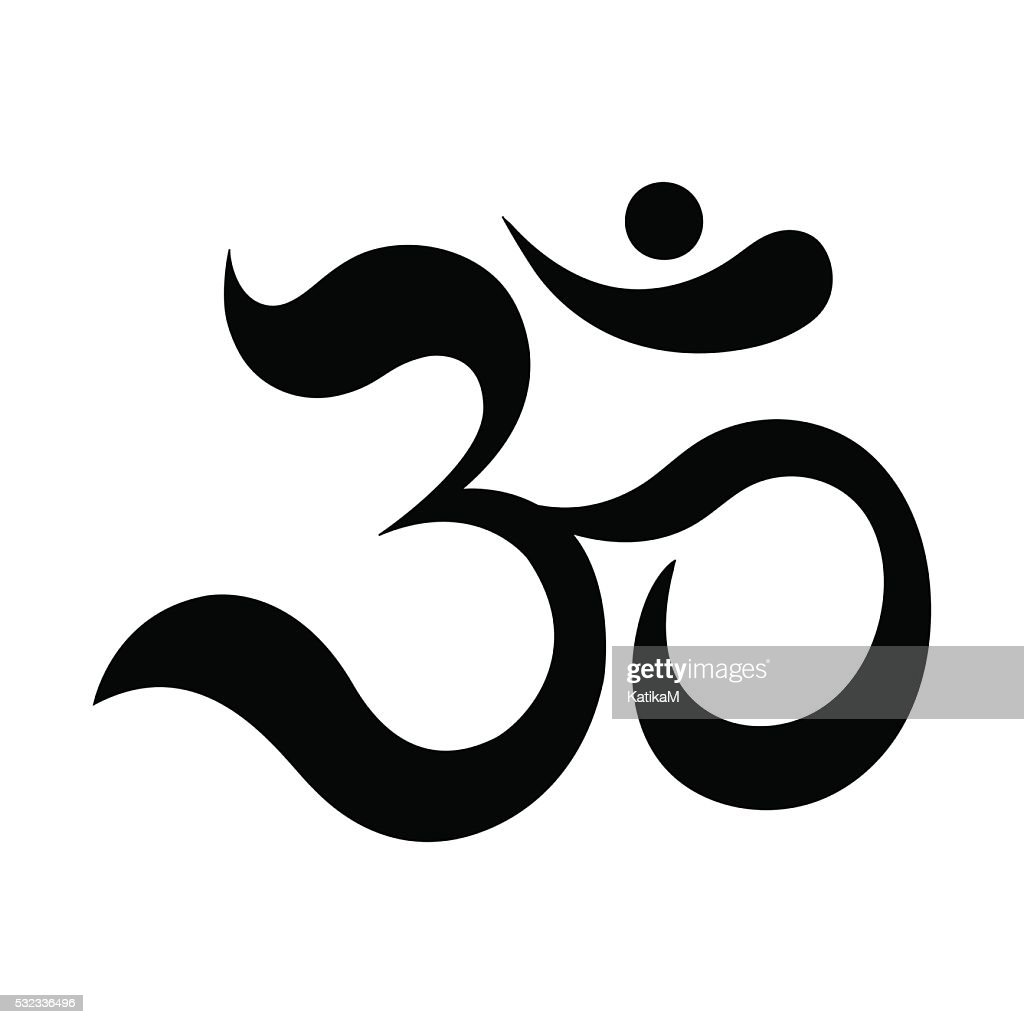 Om or Aum Indian sacred sound.