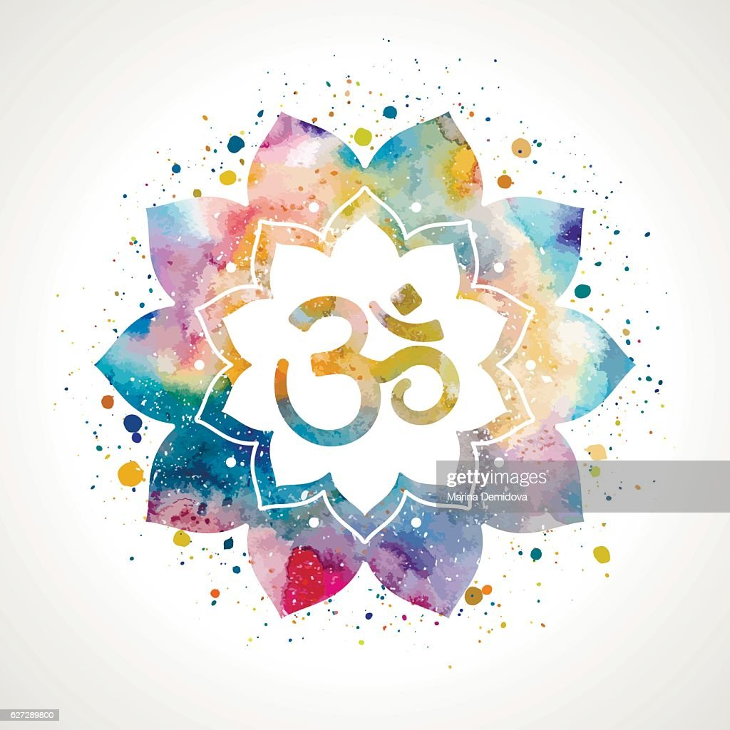 Om Sign In Lotus Flower Vector Art Getty Images