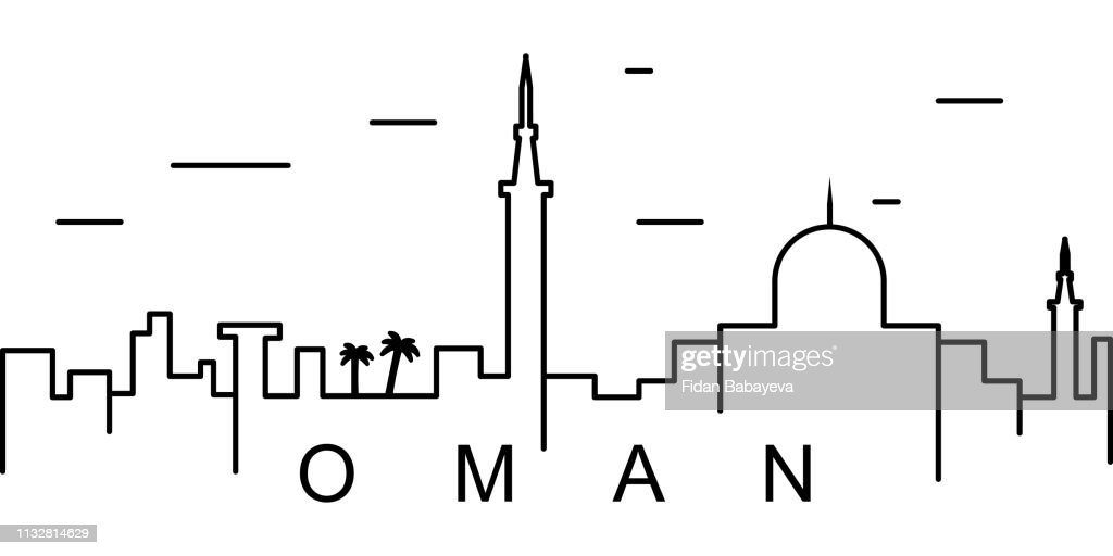 Oman outline icon. Can be used for web, logo, mobile app, UI, UX