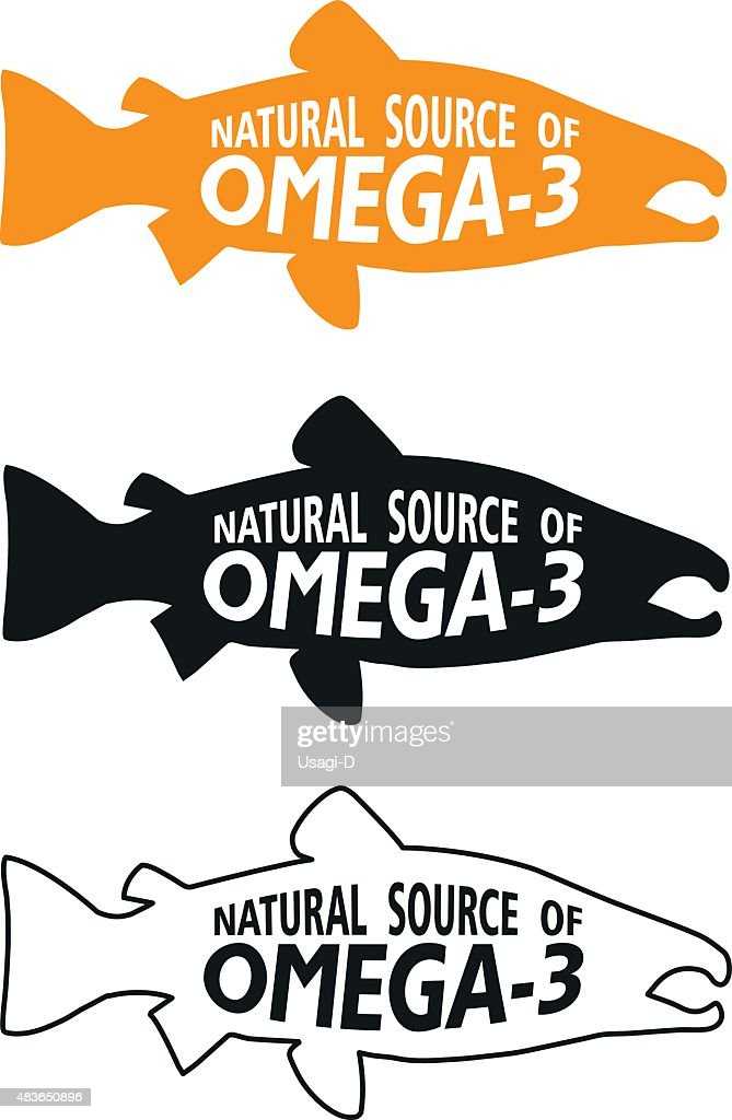 Omega 3 Symbol. Vector Illustrations Icon On A White Background.