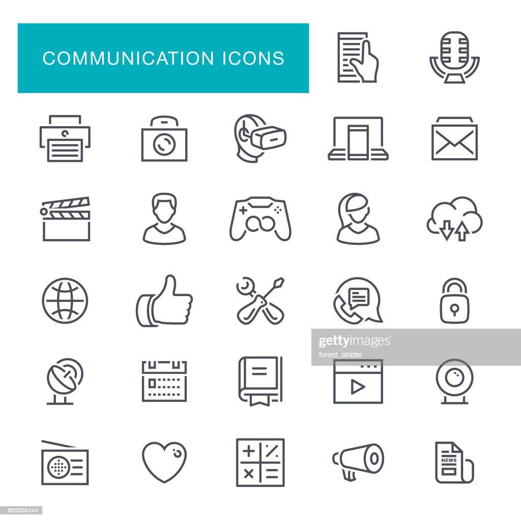 Сommunication Line Icons