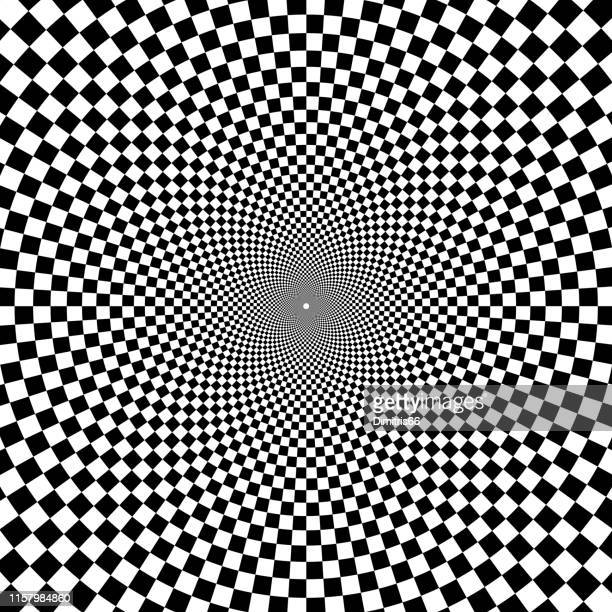 on art - optical illusion stock illustrations