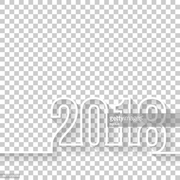 illustrations, cliparts, dessins animés et icônes de 2018 sur fond blanc - 2018