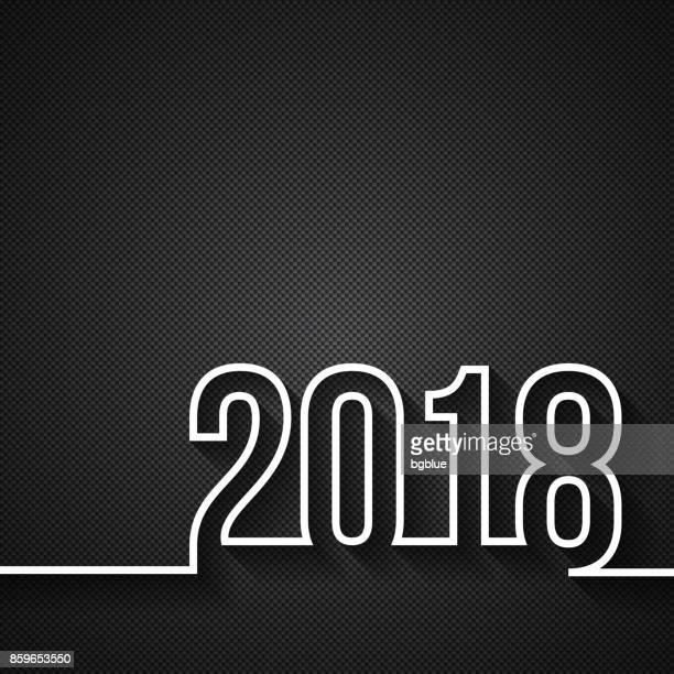 2018 on carbon fiber background