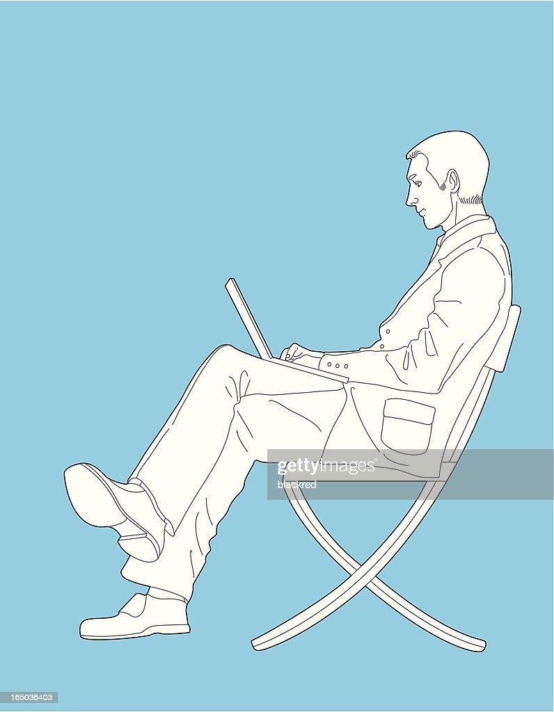 Auf Laptop : Stock-Illustration