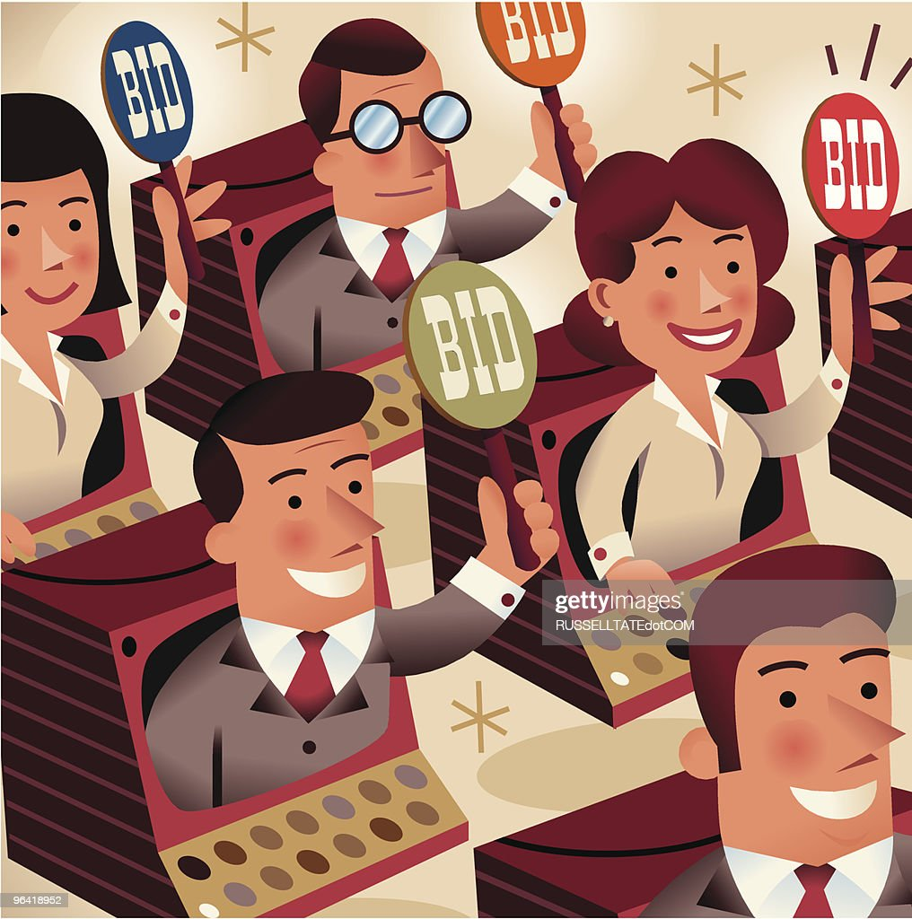 On Line auctions : stock illustration