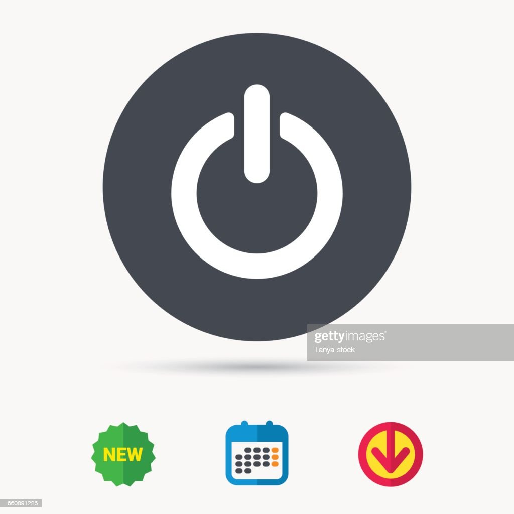 On, off power icon. Energy switch sign.