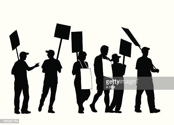 World's Best Picket Line Stock Illustrations - Getty Images
