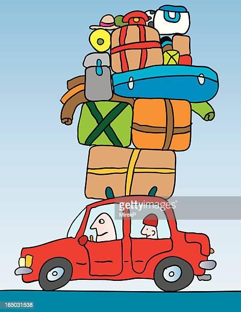 illustrations, cliparts, dessins animés et icônes de sur la route - déménagement